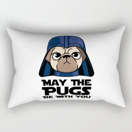 May The Pugs Be With You Rectangular Pillow