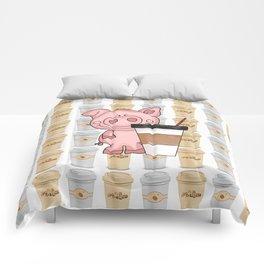 Mr Pig Loves His Coffee Comforters