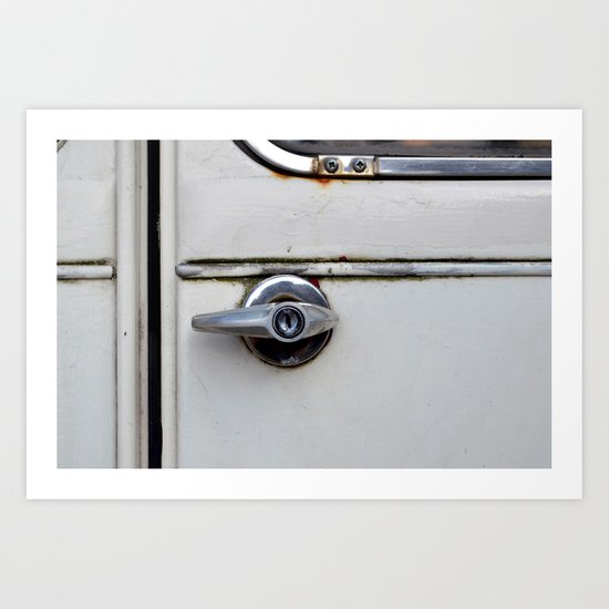 Rusty door Art Print
