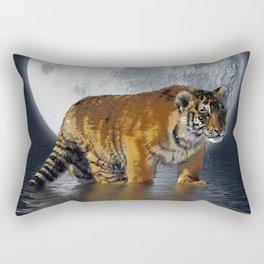 Moonlite Night Tiger Rectangular Pillow