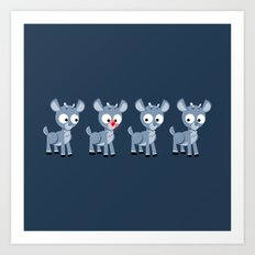 Hey look, it's Rudolph! Art Print