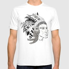 Indian Mens Fitted Tee White MEDIUM