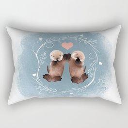Otter Love Rectangular Pillow