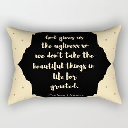 Ugly Love quote (Colleen Hoover) Rectangular Pillow