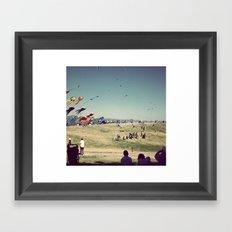 Berkeley's Flying Kites Framed Art Print