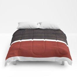Colorful Bright Minimalist Rothko Color Field Midcentury Modern Brown Black Square Vintage Pop Art Comforters