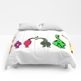Colorful Cat Butts Comforters