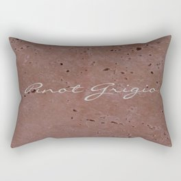 Pinot Grigio Wine Red Travertine - Rustic - Rustic Glam - Hygge Rectangular Pillow