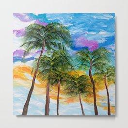 Tropical Palm Trees Metal Print