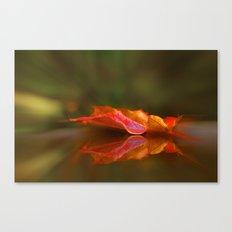 Maple Leaf Reflection Canvas Print