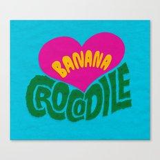 Banana Love and the Crocodile  Canvas Print