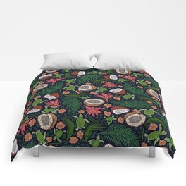 Tropical: Sea Turtles and Coconut Pattern Comforters