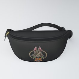Easter Bunny Pirate   Happy Easter Colored Eggs Fanny Pack