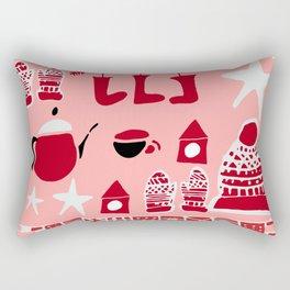 winter gear pink Rectangular Pillow