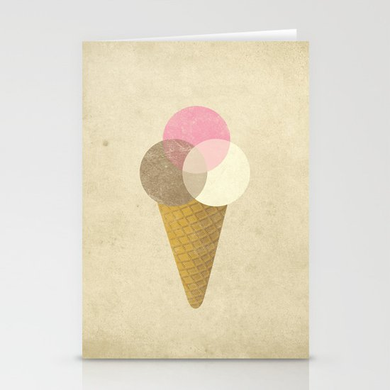 Ice Cream Venndor Stationery Cards