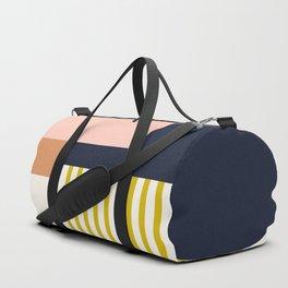 Sol Abstract Geometric Print in Multi Duffle Bag