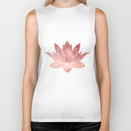 Pink Lotus Flower | Watercolor Texture Biker Tank