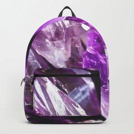 Purple Amethyst Crystals Backpack
