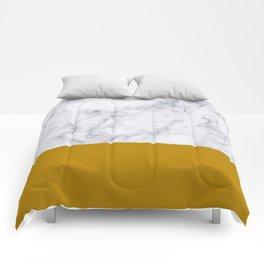 Marble Mustard yellow Color block Comforters