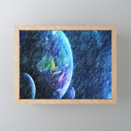Far out there Framed Mini Art Print