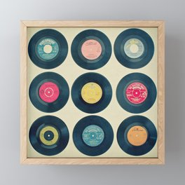 Vinyl Collection Framed Mini Art Print