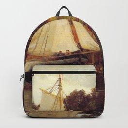 Hans Gude Painting -  Fra Sandvika 1873  | Reproduction | Norwegian Art Backpack