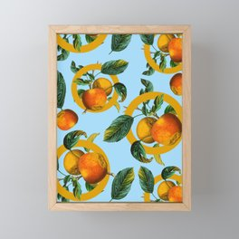 Vintage Fruit Pattern II Framed Mini Art Print