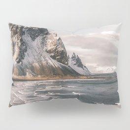 Stokksnes Icelandic Mountain Beach Sunset - Landscape Photography Pillow Sham