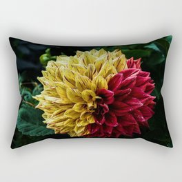 Yellow Red Rectangular Pillow
