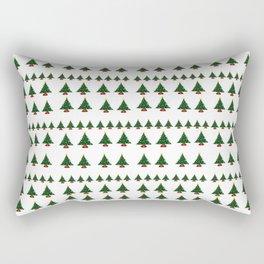Ugly Sweater Christmas Trees - Pixel Art Rectangular Pillow