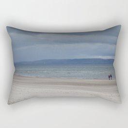 Figures on The Beach at Nairn, Scotland Rectangular Pillow