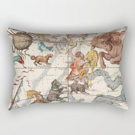 Vintage Constellation Map - Star Atlas Rectangular Pillow