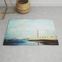 On The Front Textured Fine Art Photograpy Rug