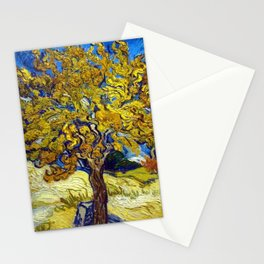 The Mulberry Tree in Autumn by Vincent van Gogh Stationery Cards