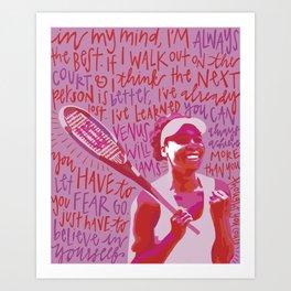 Venus Williams. Art Print