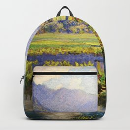 Manoa, Hawaiian landscape painting by Anna Woodward Backpack