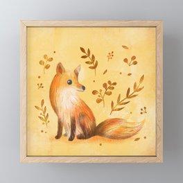 Fox & Autumn Framed Mini Art Print