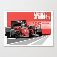 Michele Alboreto - 1985 Nürburgring Canvas Print