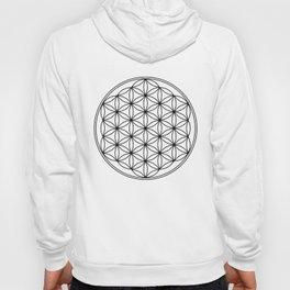 Flower of life in black, sacred geometry Hoody