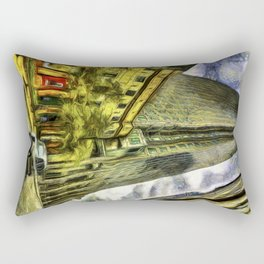 Canary Wharf London Art Rectangular Pillow