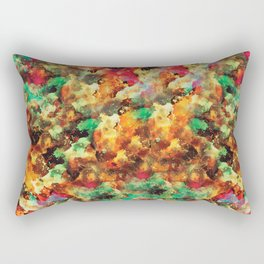 """""""I LOVE YOU script or abstract watercolor art with the same name Rectangular Pillow"""