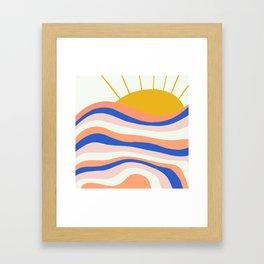 sunrise surf Framed Art Print