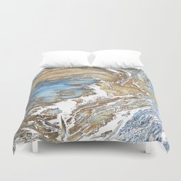Woody Silver Duvet Cover
