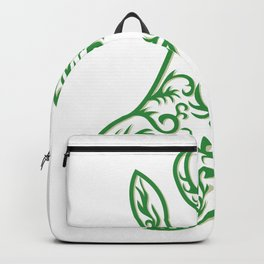 Springbok Head Paper Cut Backpack