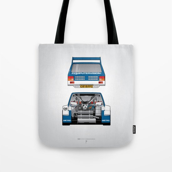 Outline Series N.º7, MG Metro 6R4, 1986 Tote Bag