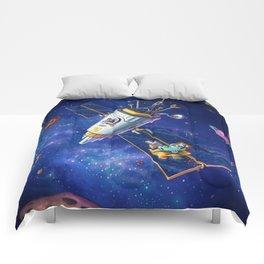 Bird in space Comforters