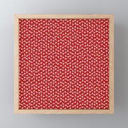 Forget Me Nots - White on Red Framed Mini Art Print