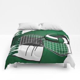 Volleyball Game - Dark Green Comforters