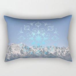 Snow Topped Remarkables Rectangular Pillow
