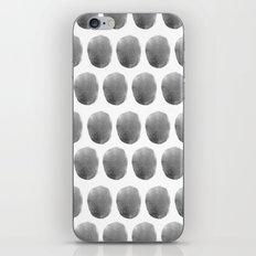 Watercolour polkadot black iPhone & iPod Skin